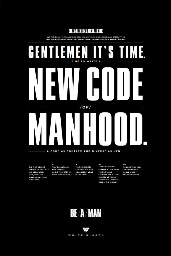 Chicos... hora de escribir un nuevo código de la masculinidad