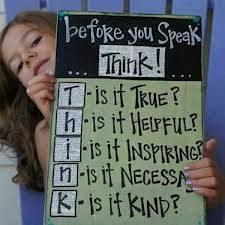 antes de hablar... think
