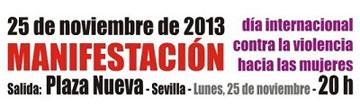 Manifestación contra la violencia de género en Sevilla, #25N, a las 20 horas