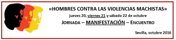 hombres contra las violencias machistas Sevilla Octubre 2016