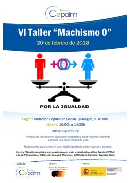 Cartel promocional de VI Taller Machismo 0