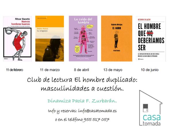 horario con la información del club de lectura